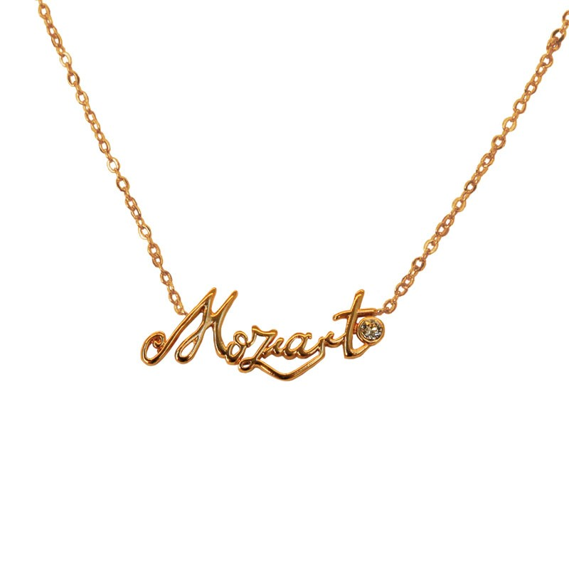 Mozart Font Necklace