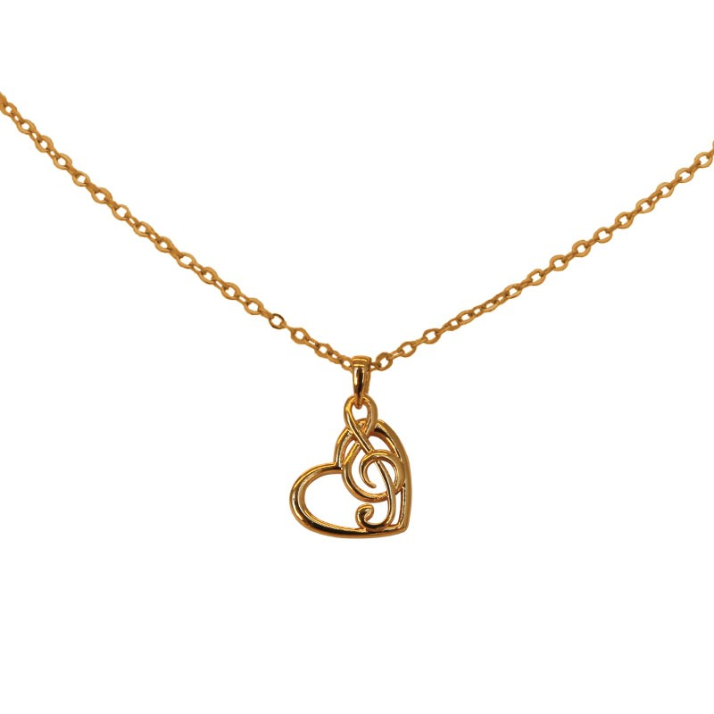 Heart & Clef Necklace
