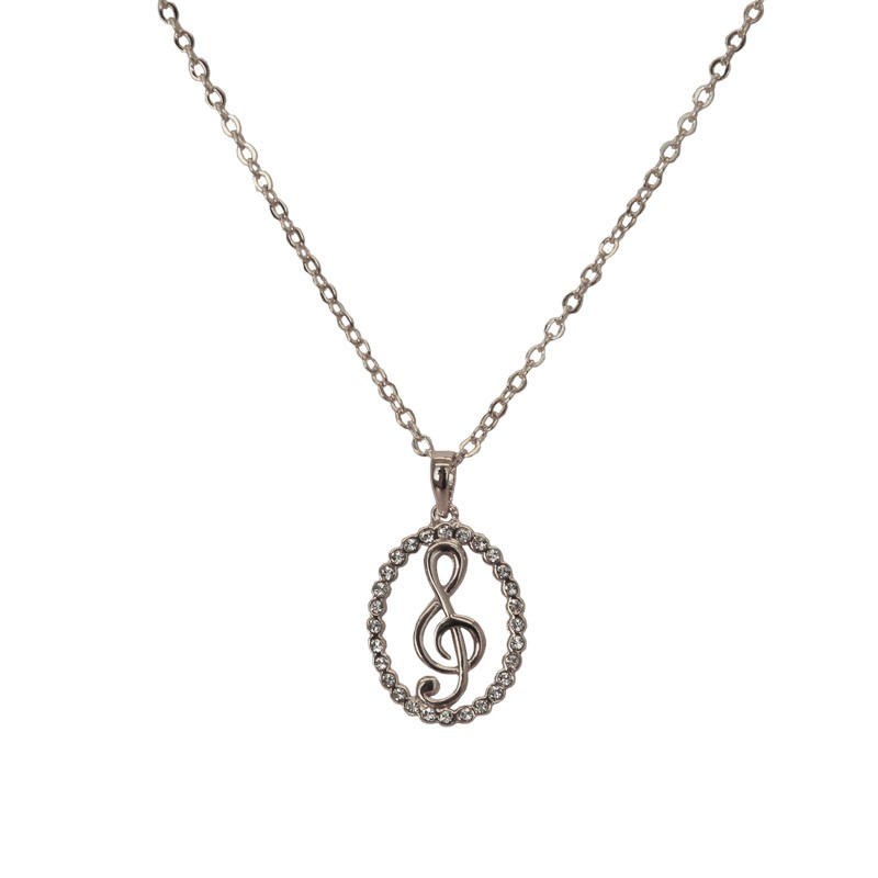 Clef Crystal Necklace